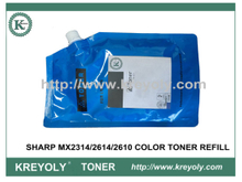 TONER COLOR TONER PILLDER para SHARP MX2314 / 2614/2610